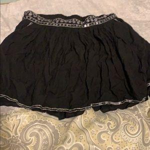 JUSTICE Sequins Black Skirt